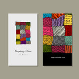 Business card collection, patchwork carpet design