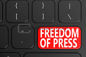 Freedom Of Press on black keyboard