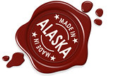 Label seal of made in Alaska