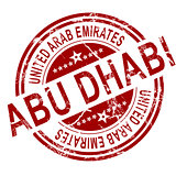 Red Abu Dhabi stamp