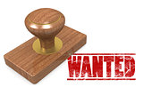Wanted wooded seal stamp