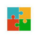 Four piece puzzle