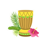 Craft Drum Hawaiian Vacation Classic Symbol