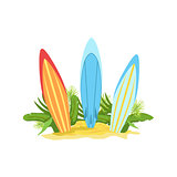 Surf Boards Hawaiian Vacation Classic Symbol