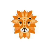 Lion African Animals Stylized Geometric Head