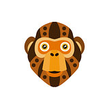 Chimpanzee African Animals Stylized Geometric Head