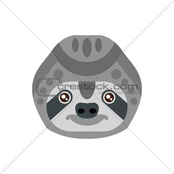 Sloth African Animals Stylized Geometric Head
