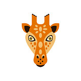 Giraffe African Animals Stylized Geometric Head
