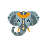 Elephant African Animals Stylized Geometric Head