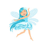 Cute Fairy Of Wind Element Girly Cartoon Character
