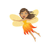 Cute Fire Fairy Girly Cartoon Character