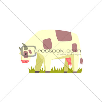 Chubby Cow Toy Farm Animal Cute Sticker