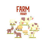Toy Farm Animals Cute Sticker