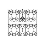 Classic Curled Lattice Fencing Design