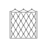 Decorative Metal Grid Fencing Design