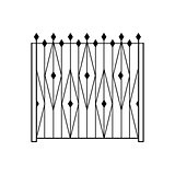 High Garden Metal Latice Fencing Design