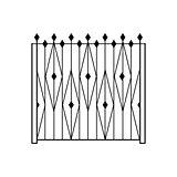High Garden Metal Latice Fencing Design