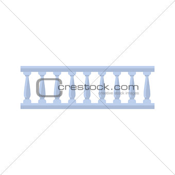 Classic Marble Balcony Fence Design Element Template