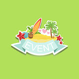 Surfing Event Template Label Cute Sticker