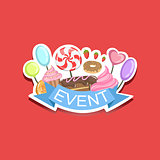 Event Template Label Cute Sticker With Sweets