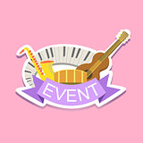 Jazz Concert Event Template Label Cute Sticker