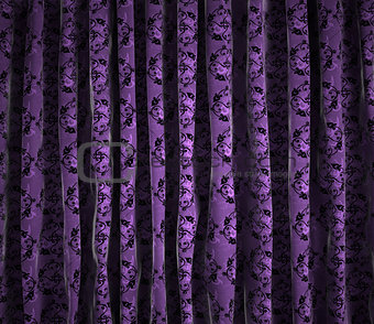 Background vintage curtains