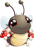 Cute ladybug cartoon