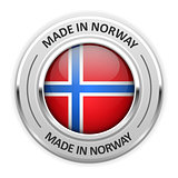 Silver medal Made in Norway with flag