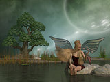 Fairy Daina by Pond