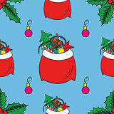 Seamless pattern watercolor to Merry Christmas. Bright background for happy new year