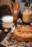 Delicious cinnamon and pecan coffee cake
