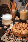 Delicious cinnamon and pecan coffee cake