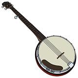 Classic five string banjo