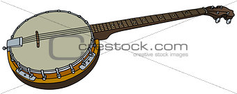 Old four string banjo
