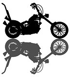 Silhouette of the classic chopper
