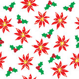 poinsettia seamless background