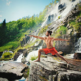 Yoga in a natural landscape