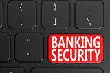 Banking Security on black keyboard