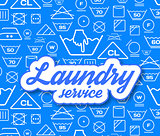 Laundry service vector illustration