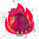 Rooster vector illustration.
