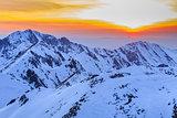 Fagaras Mountains in winter, Romania
