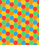 Seamless pattern honeycomb texture hexagon shapes