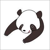 Cartoon panda bear