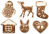 Set Christmas gingerbread