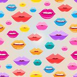 Seamless pattern of lips