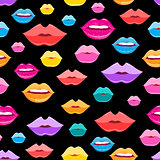 Wonderful vector pattern of lips