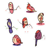 Great designed set of cartoon birds