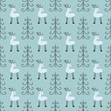 Deer forest seamless pattern.