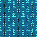Christmas trees seamless pattern.