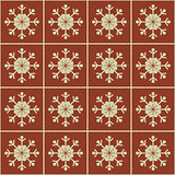 Christmas snowflakes seamless background.
